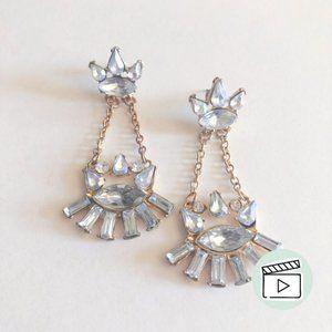 Jewelmint Iridescent Crystal Cut Resin Earrings